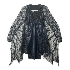 Leg Avenue black sexy lace bat halloween costume L